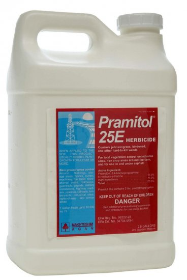 Pramitol 25E Herbicide - Ground sterilizer - 2.5 Gallon Jug - Click Image to Close