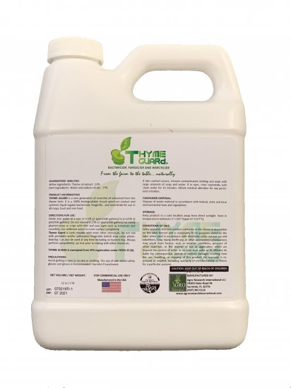 Thyme Guard Organic Bactericide, Fungicide, and Insecticide 1 Quart - Thyme Extract - Click Image to Close