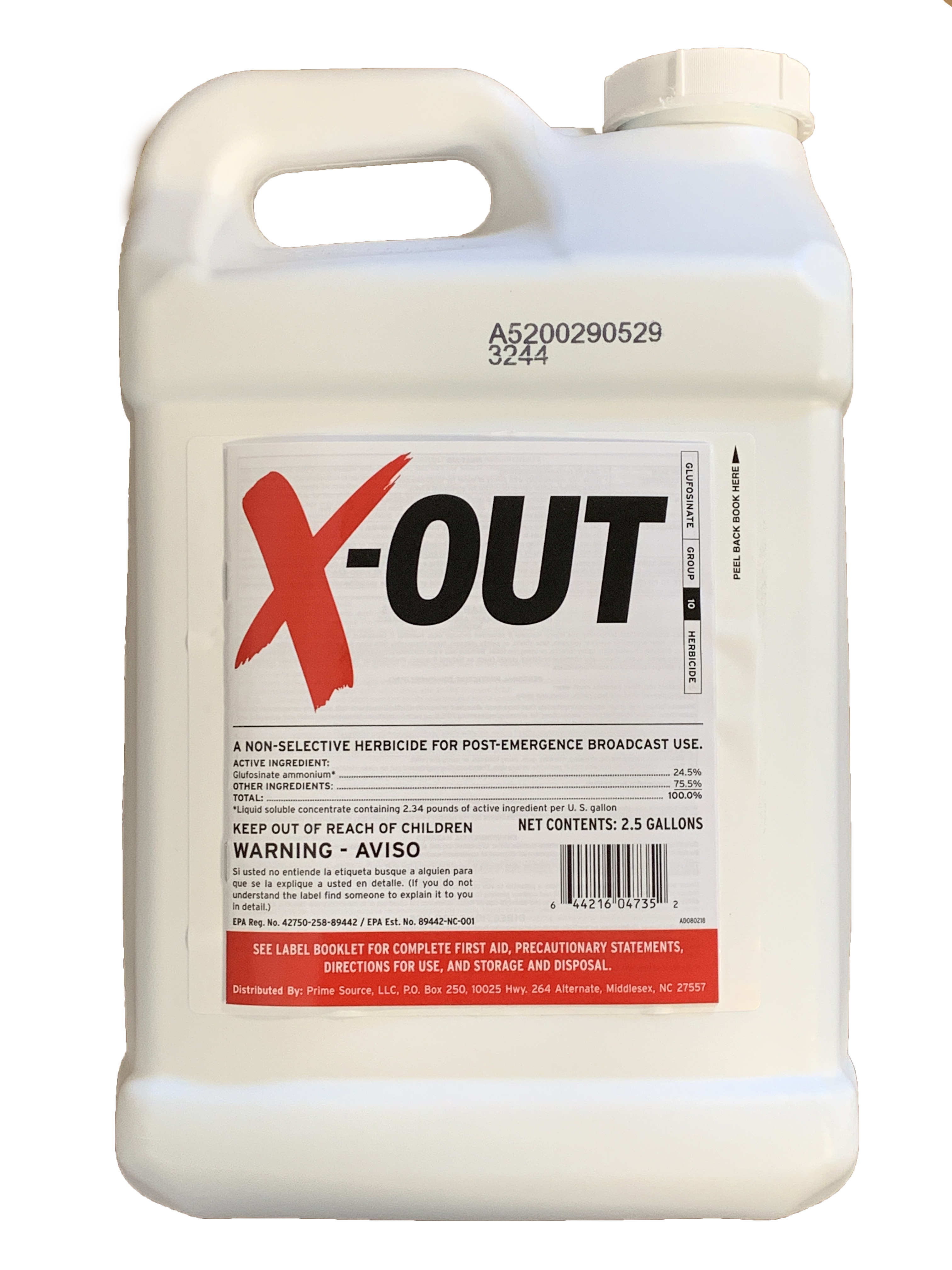 X-Out Weedkiller - 2 5 Gallons - Glyphosate free Roundup Replacement